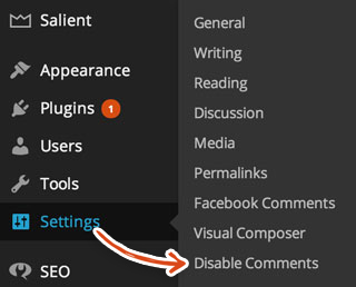 wordpress-disable-comments-settings