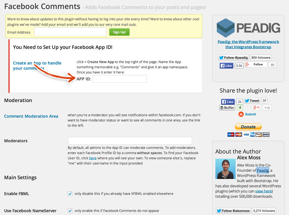 wordpress-settings-facebook-comments-app-id