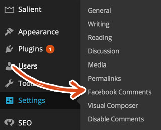 wordpress-settings-facebook-comments