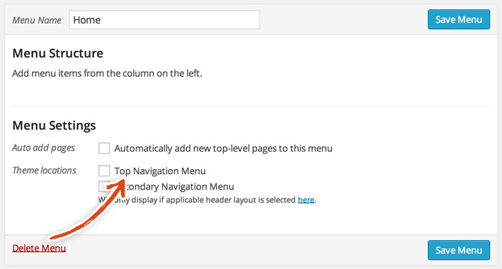 wordpress-top-navigation-menu